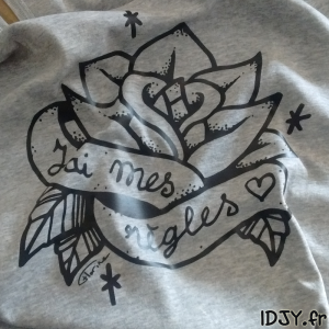 T-shirt personnalisé flex custom